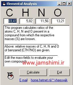 دانلود نرم افزار محاسبه فرمول تجربی ترکیبات شیمیایی