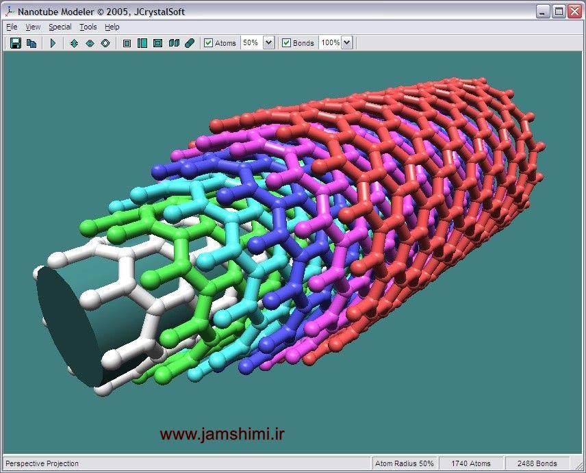 دانلود Nanotube Modeler 1.7.9 نرم افزار مدل سازی نانولوله های کربنی
