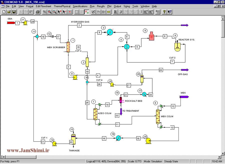 دانلود Chemstations CHEMCAD Suite 7.1.5.11490 نرم افزار شبیه سازی مهندسی شیمی