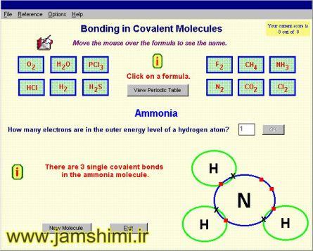 دانلود نرم افزار Covalent Bonding شبیه سازی پیوندهای کووالانسی