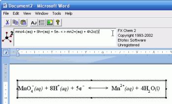 FXChem 4 350x212 تایپ سریع و آسان معادلات شیمیایی در Word با نرم افزار Fx Chem v2.104.2