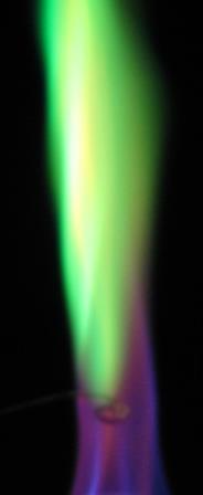 Borax%20%28Na2B4O7%29 آزمایش شعله (Flame Test)