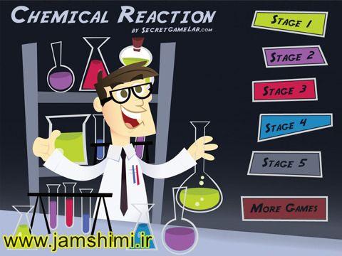انیمیشن انواع واکنش های شیمیایی