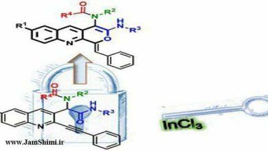 دانلود مقاله شیمی هیدروآمید دار کردن درون مولکولی آلکین ها با کاتالیزور ایندیوم