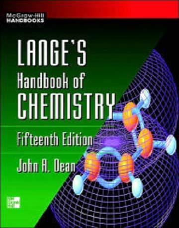 دانلود هندبوک شیمی لانگ ویرایش 15 پانزدهم John A. Dean