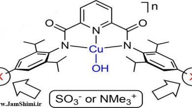مقاله شیمی اثر استخلاف های لیگاندی باردار بر خواص کمپلکس های مس (III) هیدروکسید