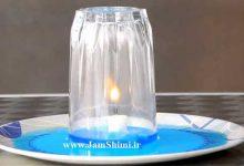 دانلود آزمایش جالب شیمی: بالا رفتن آب از لیوان با روشن کردن کبریت
