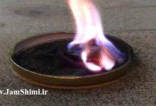 آزمایش واکنش پتاسیم پرمنگنات، گلیسیرین و آب اکسیژنه