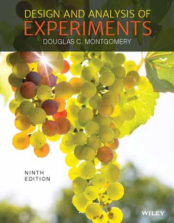 دانلود کتاب طراحی و آنالیز آزمایش ها ویرایش 9 نهم Montgomery