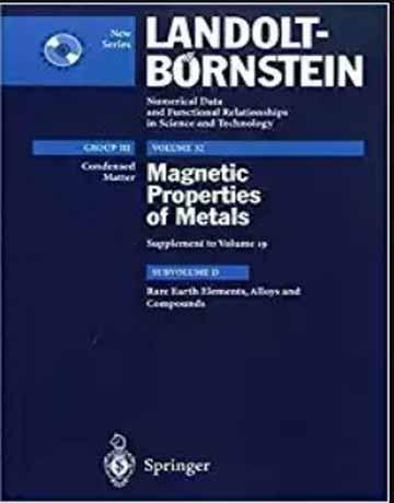 دانلود کتاب عناصر کمیاب زمین، آلیاژ ها و ترکیبات جلد 32
