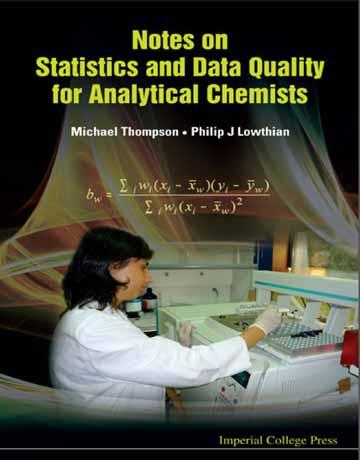 دانلود یادداشت ها در مورد آمار و کیفیت داده ها برای شیمیدان های تجزیه