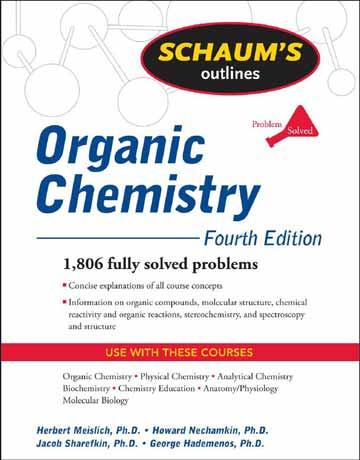 دانلود کتاب شیمی آلی شومز Schaum's ویرایش چهارم