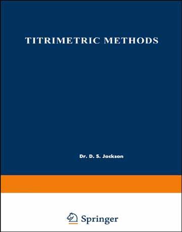 دانلود کتاب روش های تیتریمتری در شیمی تجزیه D. S. Jackson