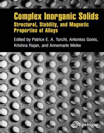 کتاب جامدات معدنی کمپلکس: خواص ساختاری، پایداری و مغناطیسی آلیاژها Turchi