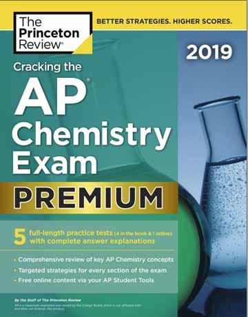 کتاب Cracking the AP Chemistry Exam 2019 Premium شیمی عمومی و تست