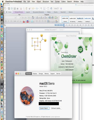 دانلود ChemDraw 16.0.1.4 macOS X نرم افزار طراحی فرمول های شیمی برای مک