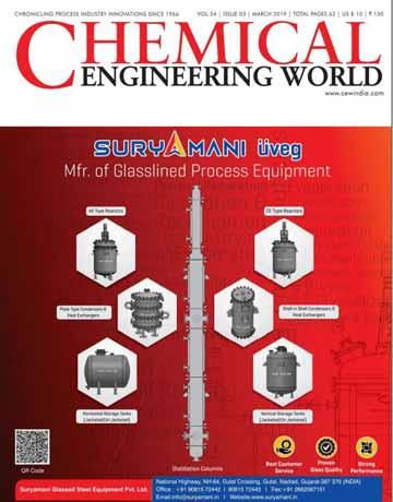 دانلود مجله دنیای مهندسی شیمی Chemical Engineering World - March 2019