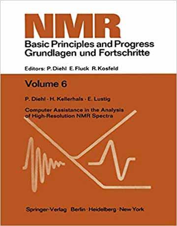 کتاب دستیارهای کامپیوتری در آنالیز طیف های NMR با وضوح بالا