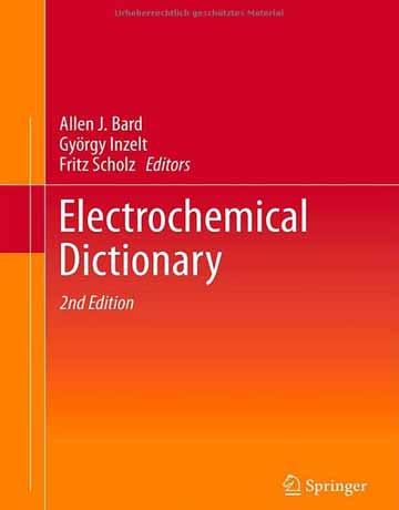 دانلود دیکشنری الکتروشیمیایی ویرایش دوم آلن جی بارد Allen J. Bard