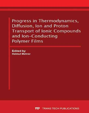 کتاب پیشرفت در ترمودینامیک، انتشار، انتقال یون و پروتون از ترکیبات یونی