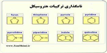 جزوه تمرین های نامگذاری ترکیبات هتروسیکل