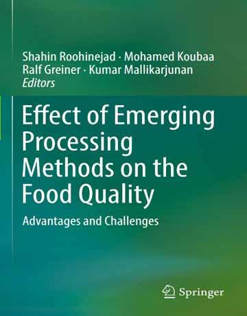 کتاب تاثیر روش های پردازش نوظهور بر کیفیت مواد غذایی