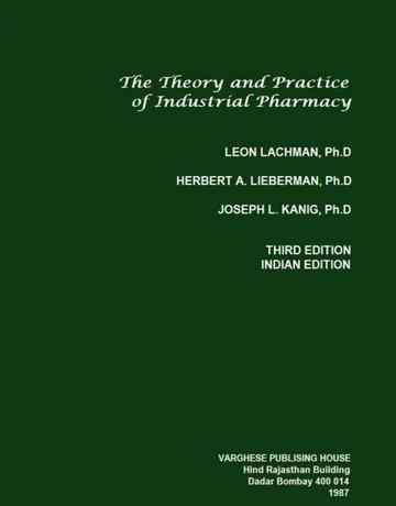 کتاب تئوری و تمرین داروسازی صنعتی Leon Lachman