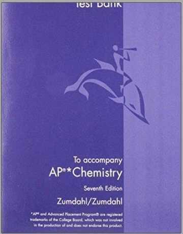 کتاب بانک تست های شیمی ویرایش هفتم اثر زومدال