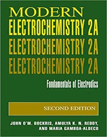 کتاب الکتروشیمی مدرن بوکریس جلد 2A ویرایش دوم