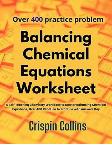 کتاب آموزش موازنه انواع واکنش های شیمیایی + 500 تمرین سخت و جواب