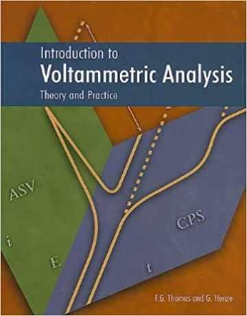 کتاب مقدمه ای بر آنالیز ولتامتری: تئوری و تمرین