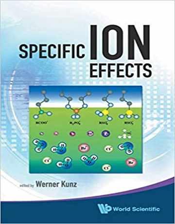 کتاب ﺍﺛﺮﺍﺕ ﻭﯾﮋﻩ ﯾﻮﻧﯽ Specific Ion Effects
