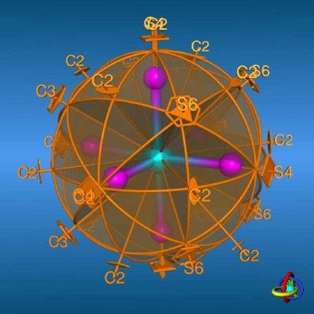 دانلود پاورپوینت گروه نقطه ای سه بعدی در شیمی معدنی