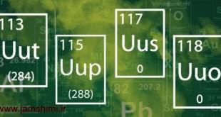 نامهای پیشنهادی چهار عنصر جدید در جدول تناوبی عنصرها
