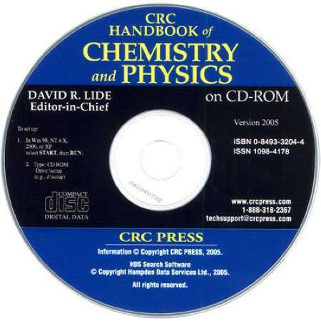 دانلود CRC Handbook of Chemistry and Physics CD-ROM هندبوک شیمی