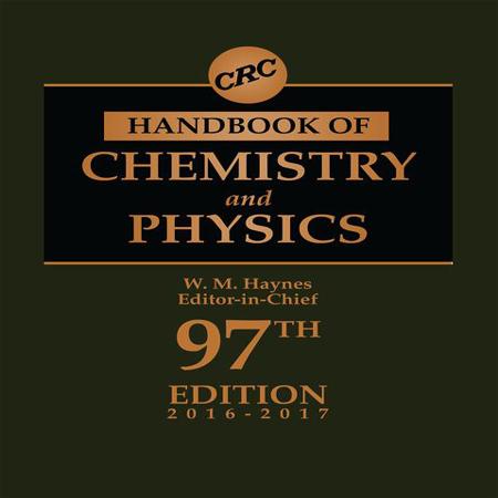 دانلود هندبوک CRC شیمی و فیزیک ویرایش 97 چاپ 2017-2016 William M. Haynes