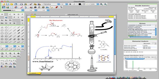 دانلود ChemDoodle 8.0.1 نرم افزار طراحی و رسم ساختار ترکیب ها و فرمول های شیمی