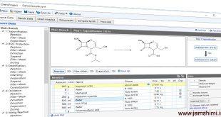 دانلود ChemProject 6.0.2 نرم افزار محاسبه سنتز شیمیایی و ارزیابی تولید مواد در آزمایشگاه