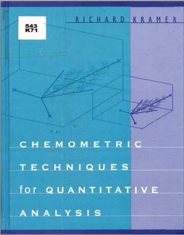 دانلود کتاب تکنیک های کمومتریک برای آنالیز کمی Richard Kramer