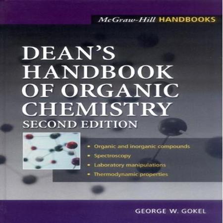 دانلود Dean Handbook of Organic Chemistry 2nd edition هندبوک شیمی آلی