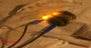 دانلود فیلم آزمایش اتصال جریان برق به خیارشور ودلیل ایجاد نور رنگی از خیارشور