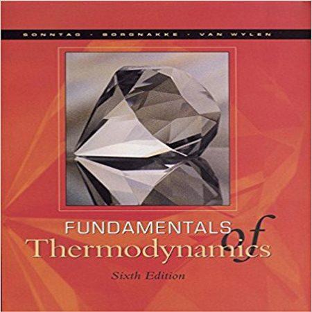 دانلود کتاب مبانی ترمودینامیک ون وایلن و سونتاگ ویرایش 6 ششم Van Wylen