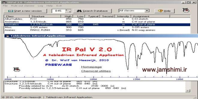 دانلود IRPal 2.0 نرم افزار بررسی و تفسیر طیف های مادون قرمز IR