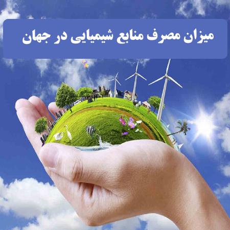دانلود تحقیق میزان مصرف منابع شیمیایی مختلف در جهان به صورت word