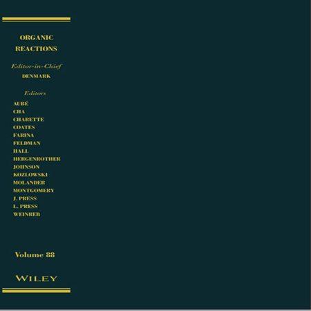 کتاب واکنش های آلی جلد 88 ویرایش اول Scott E. Denmark
