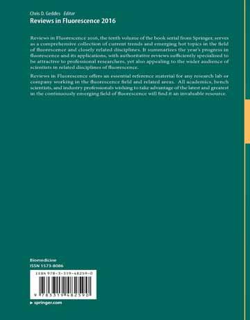 دانلود کتاب مروری در فلورسانس 2016 Chris D. Geddes