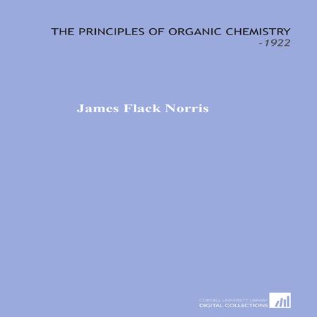 دانلود کتاب مبانی شیمی آلی جیمز نوریس James Flack Norris