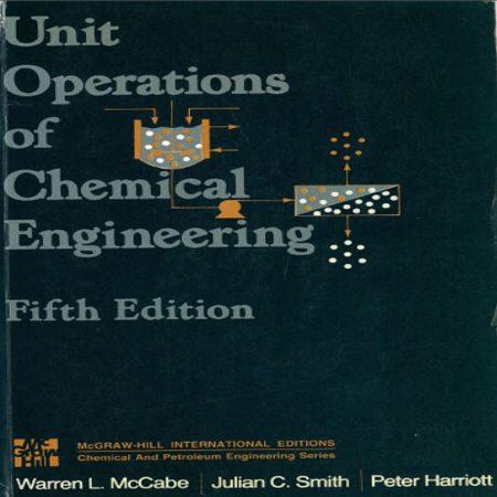 دانلود کتاب عملیات واحد مهندسی شیمی مک کیب ویرایش 5 پنجم Warren L. McCabe