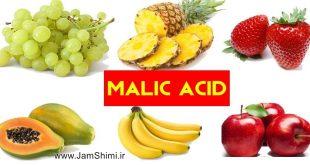 دانلود اینفوگرافیک شیمی برخی اسیدهای موجود در میوه ها