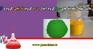 دانلود آزمایش و روش تهیه رنگدانه های سبز کروم آبدار، زرد کروم، نارنجی کروم و آبی